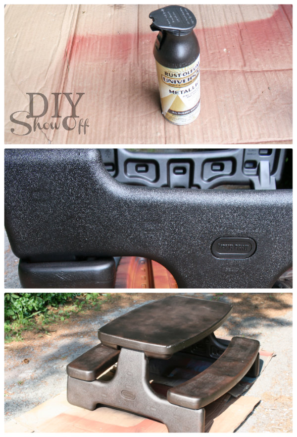 Plastic picnic table makeoverdiy show off diy decorating and painting plastic picnic table tutorial watchthetrailerfo