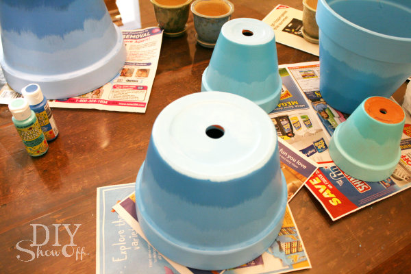painting terracotta flower pots