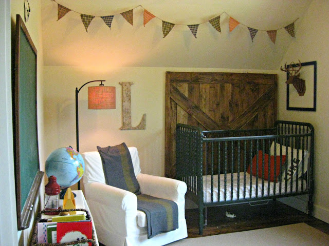 rustic nursery at Hunting Creek Homestead