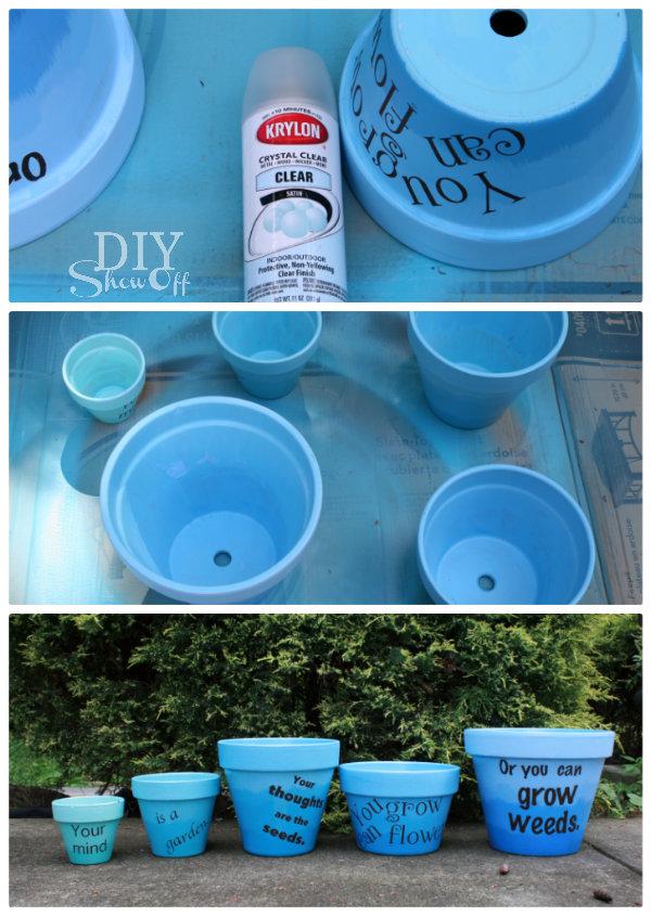 sealing painted terra cotta pots