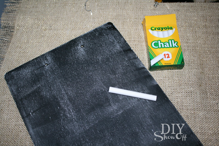 seasoning chalkboard