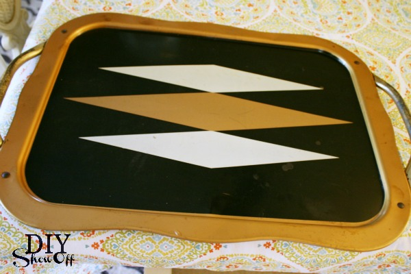 serving tray before makeover