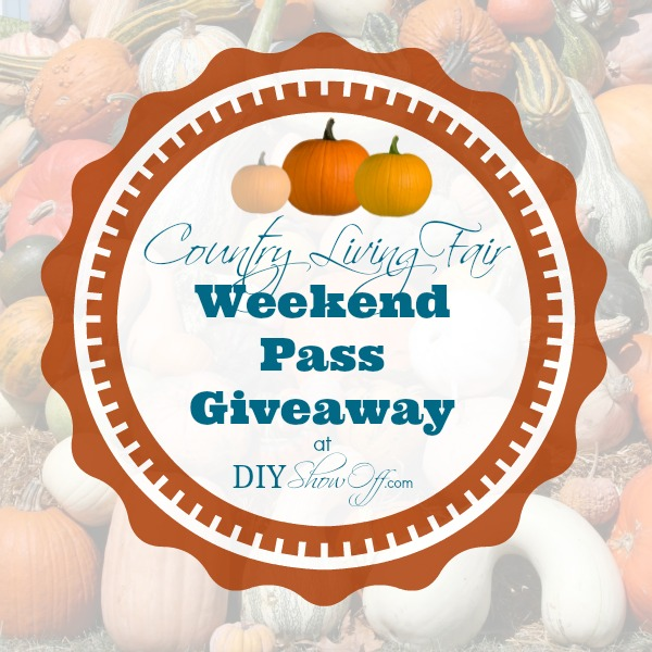 Country Living Fair ticket giveaway