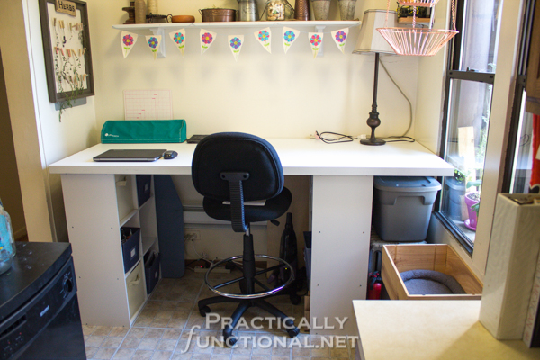DIY-Built-In-Craft-Desk at Practically Functional