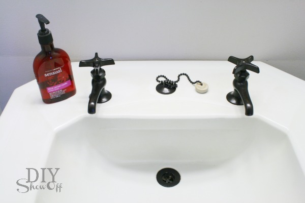 DIY painted faucets