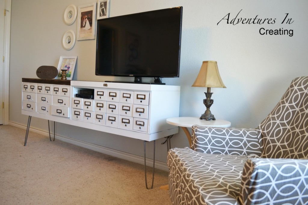 DIY security box console at Adventures in Decorating