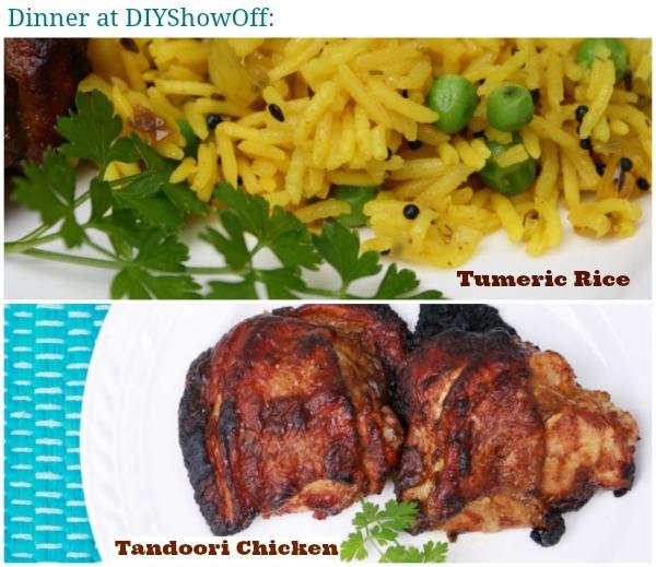Tumeric Rice and Tandoori Chicken
