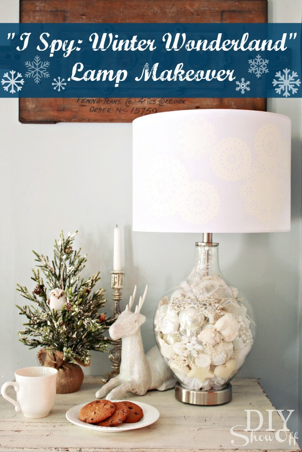 I Spy Winter Wonderland Lamp Makeover