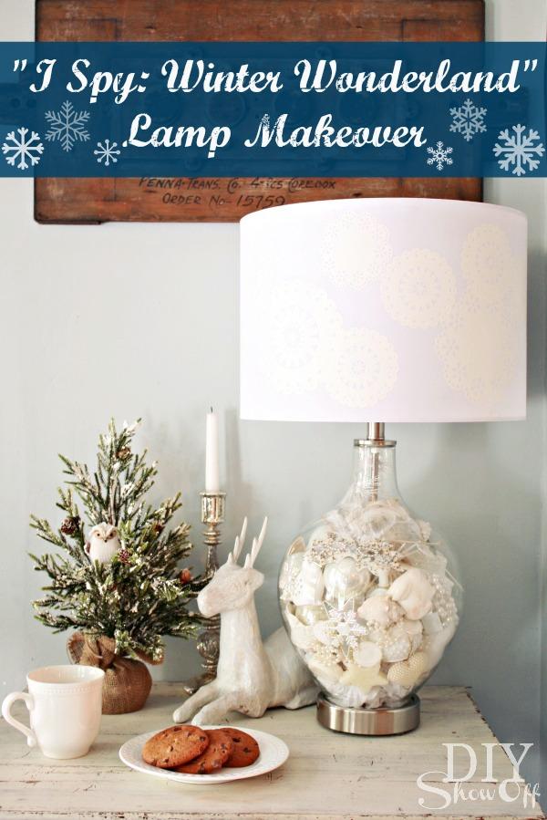 I Spy Winter Wonderland Lamp Makeover