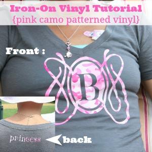 Iron On Vinyl t-shirt Tutorial at diyshowoff.com