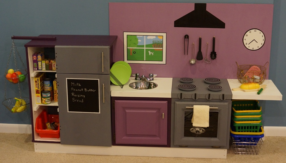 play kitchen at The Skocik Money Pit