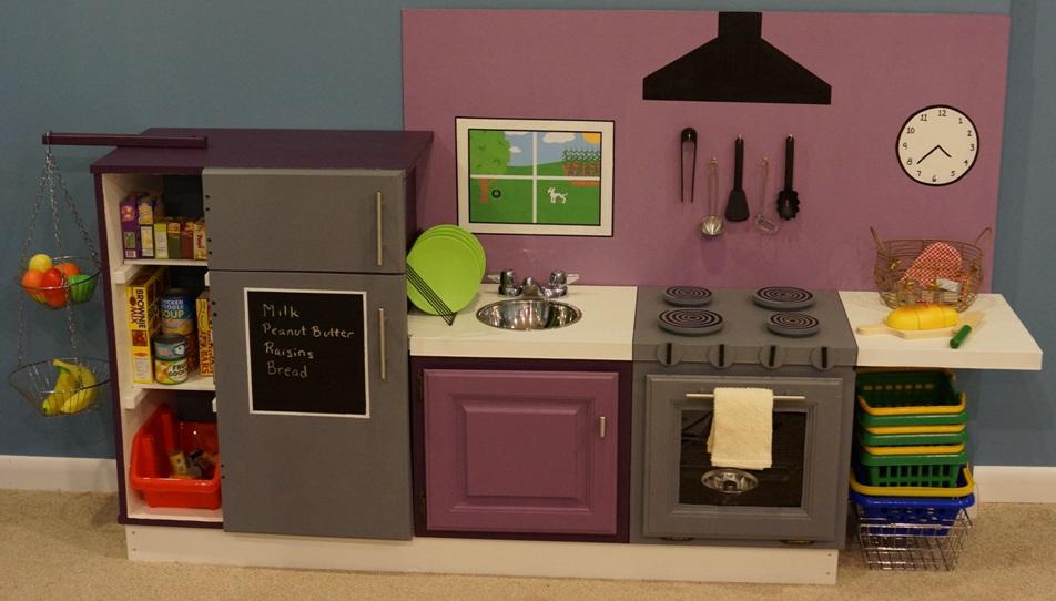 play kitchen at The Skocik Money Pit