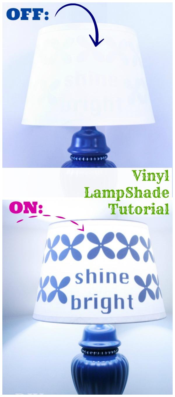 vinyl lampshade tutorial