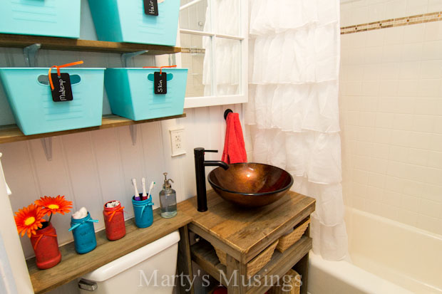bathroom reveal at Marty's Musings