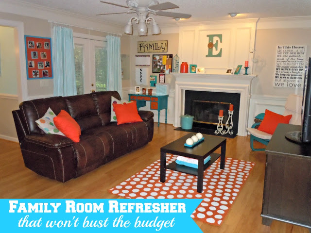 budget friendly family room makeover - Semidomesticated Mama