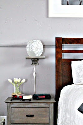 floating bedside shelf at Turtles and Tails blog
