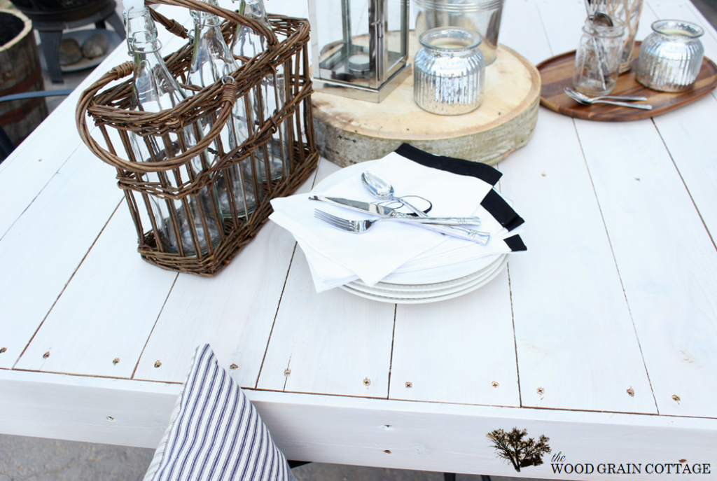 picket fence table top cover - The Wood Grain Cottage