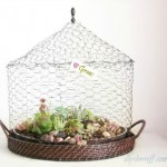 DIY wire succulent garden tutorial
