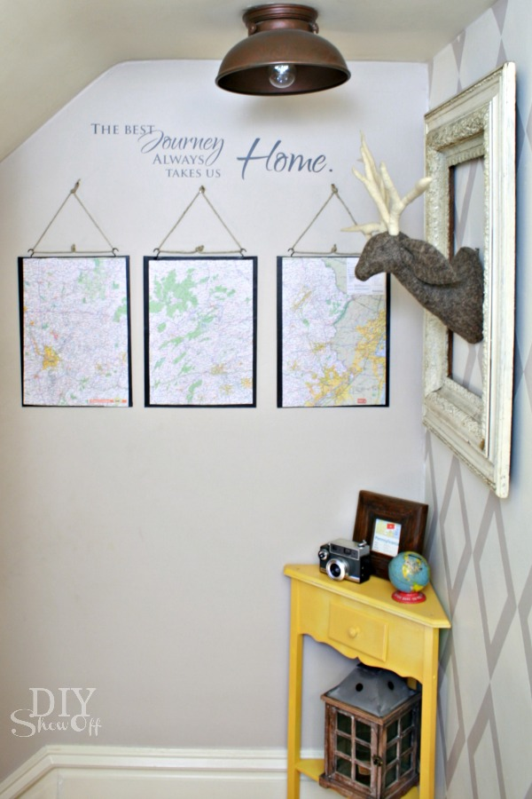 How to Make a PB inspired Map Triptych