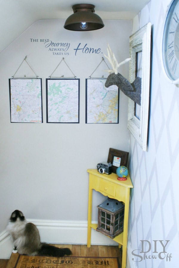 DIY Pennsylvania wall art map triptych