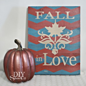 DIY chevron Fall art