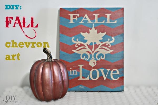 DIY fall chevron art
