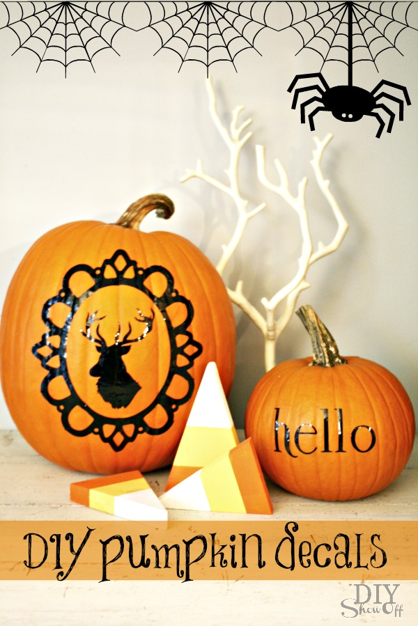 DIY vinyl pumpkin decals