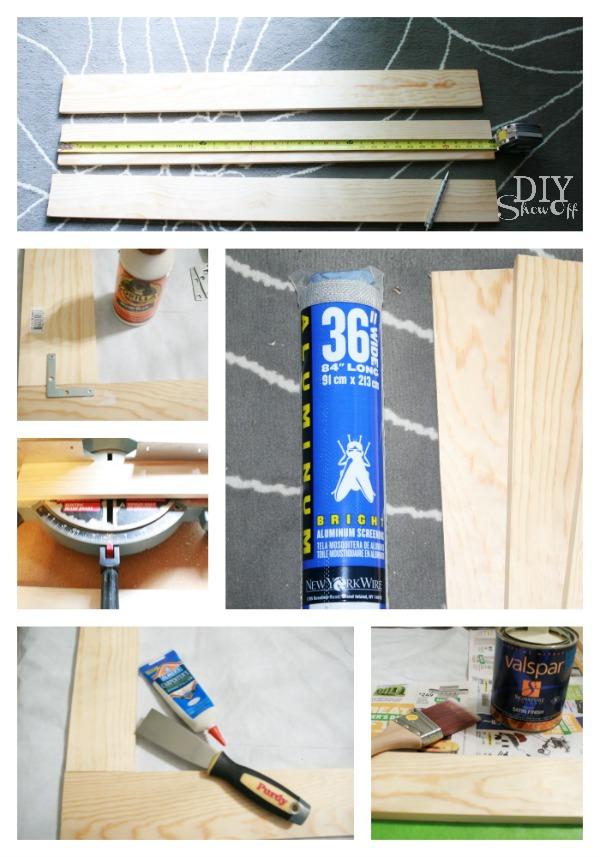 DIY removable wood window frame