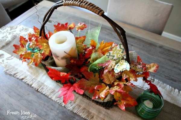 DIY-rustic-Fall-leaves-centerpiece-fresh idea studio
