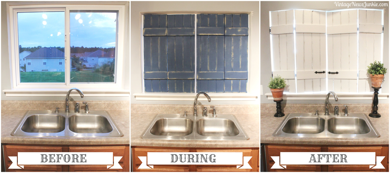 Shutters Repurposed Kitchen
