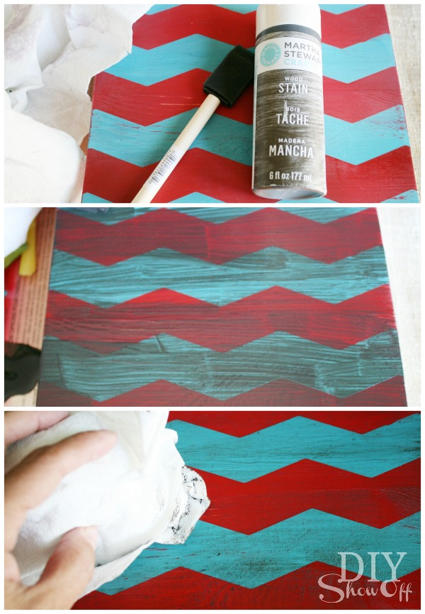 DIY Fall chevron Art