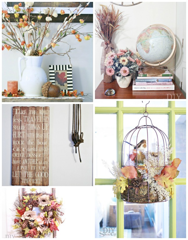 Fall decorating collage