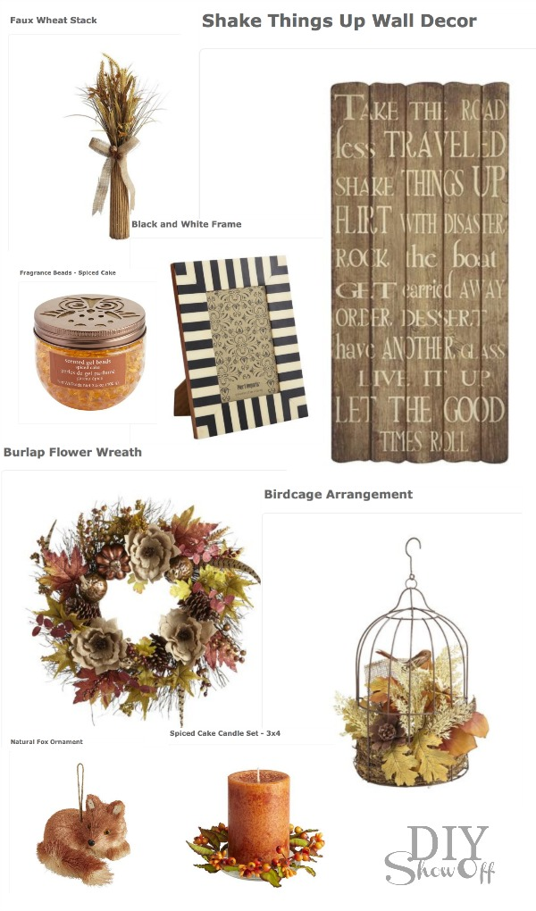 Pier 1 Fall Decor via Chippmunk