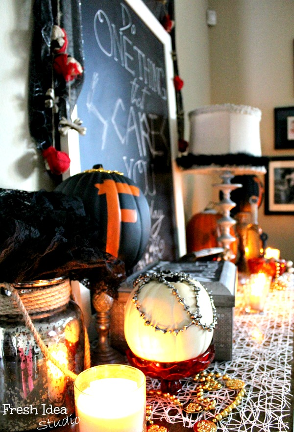 Scary-Halloween-Vignette at Fresh Idea Studio