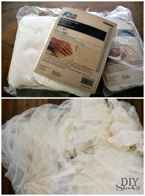 how to make a cheesecloth ghost