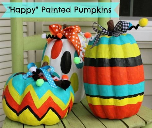 painted-pumpkins at Daisy Mae Belle