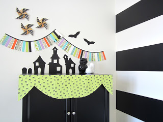 paper halloween display at Design Sprinkle