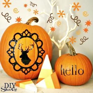 Pumpkin Vinyl Decal Trick or Treat Vinyl Decal Fall Decor Fall Vinyl Decal Pumpkin Decoration