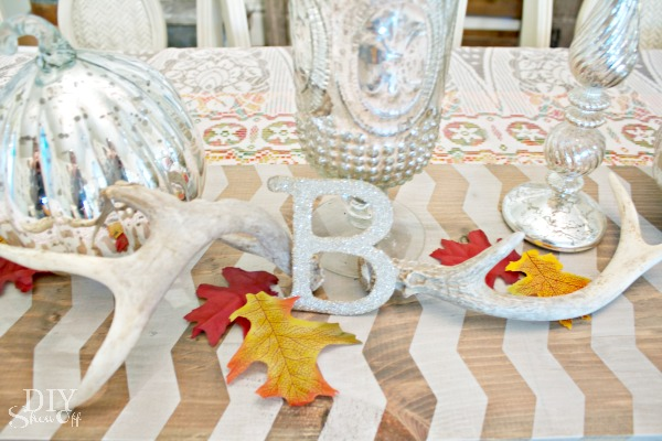 DIY painted wood table runner