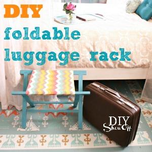 DIY foldable luggage rack tutorial DIYShowOff