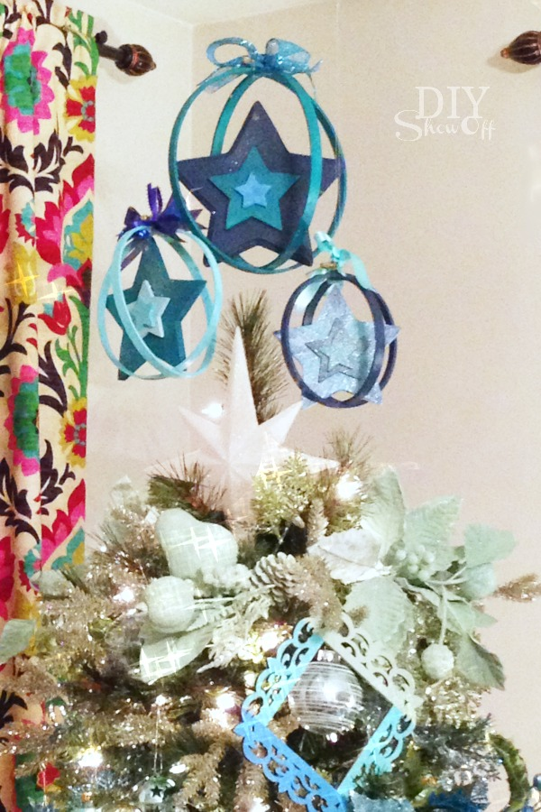 DIY hanging tree topper
