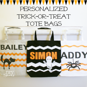 DIY personalized trick-or-treat tote bags