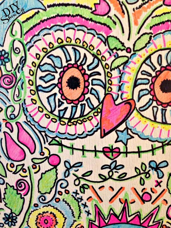 DIYShowOff Candy Skull Owl