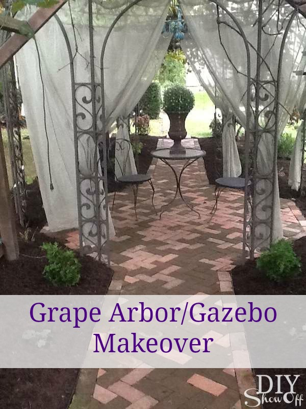 Grape Arbor Gazebo Makeover