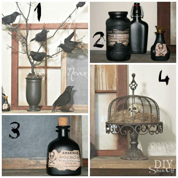 The Raven Halloween Mantel