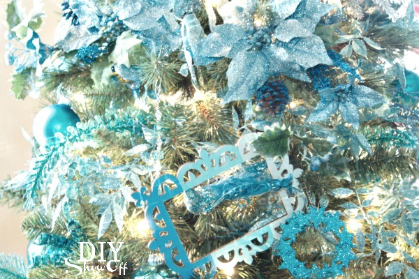 aqua ombre Christmas tree