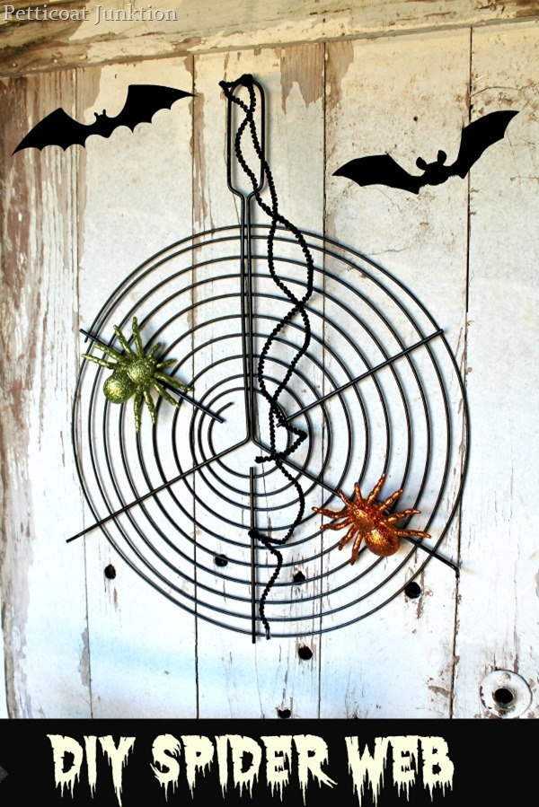 grill rack spider web at Petticoat Junktion