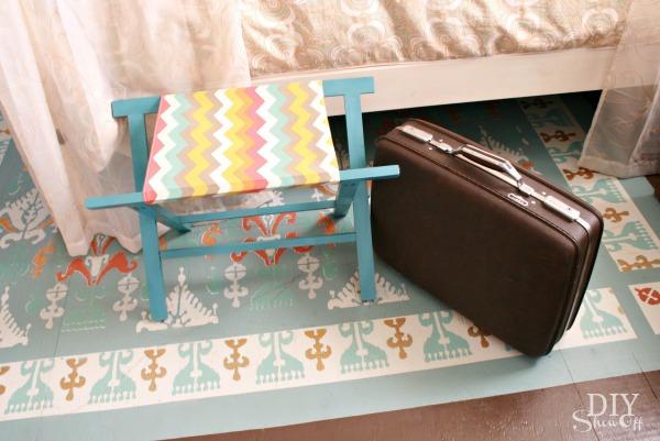foldable luggage rack tutorial