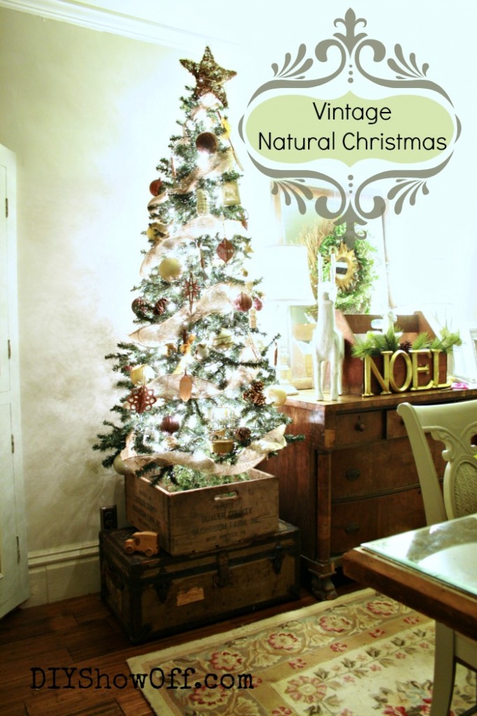 burlap natural Christmas tree