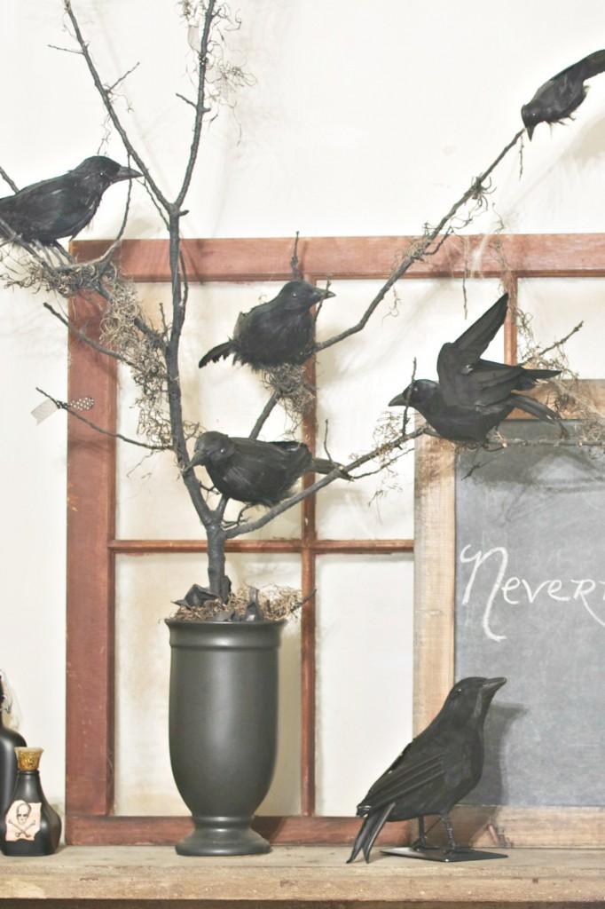 nevermore Halloween tree